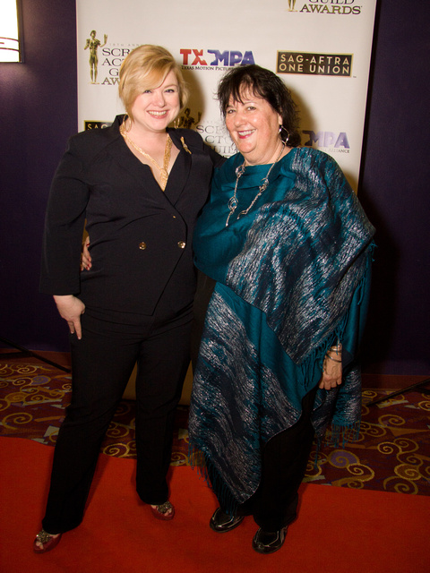 TJ was my agent.  She's still my friend.  Here we are at the SAG Awards party in Dallas, this year.