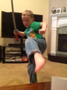My little ninja.
