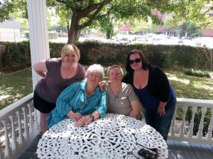 Me, Mom, Aunt B, and Cousin J on the porch.  It was a great porch!