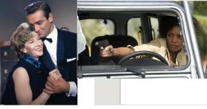 Lois Maxwell's guns vs. Naomie Harris'.  My money is on Real Moneypenny.