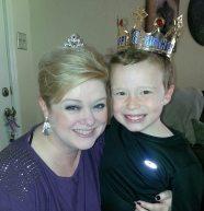 Lane Buckman and her little prince.