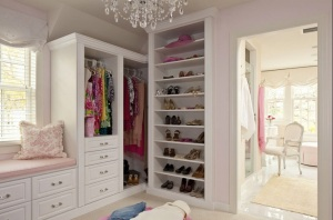 This one is my favorite.  I want to go live in this pretty, pretty closet.