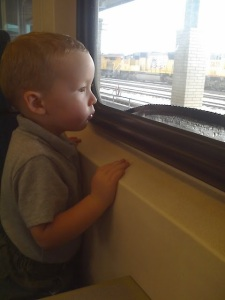 Not the daycare window, which is why this 2 year old Thor is not demanding answers to perceived injustices.