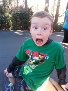 "This is his, ""I rode the Shock Wave,"" face."