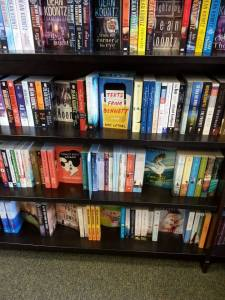 The only thing I love more than a shelf full of books at the bookstore, is my book on a shelf full of books at the bookstore.