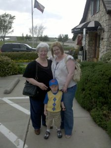 An oldie but a goodie of my mother, my son, and me.