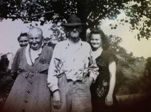 Lola and Jim, with their daughters, Mary and Ettie.